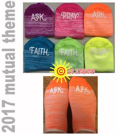 2017 mutual theme SOCKS.  If any of you lack wisdom - ASK.  Love the bright, happy colors!! LDS young women  LDS girls camp