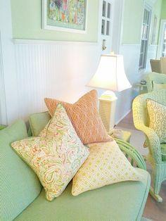 -Contemporary Citrus Blend- So. Beach Collection - Coastal Pillows - Beach Pillows