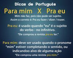 Dicas de Português - Para mim vs Para eu