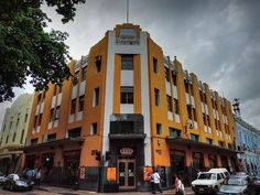 Edificio la Nacional or the National Building is an example of the many historic Art Deco buildings in city of Merida, Yucatan, Mexico.