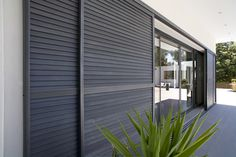 I'm a sucker for this striking shutters colors Exterior Blinds, Window Shutters Exterior, Exterior Design, Interior And Exterior, Interior Doors, Shutter Doors, Home Design Plans, Windows And Doors, Panel Doors