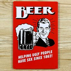 """Vente chaude """" bière aider laid peuples « signes d'étain movie poster Art House Cafe Bar Vintage métal peinture stickers muraux home decor"""