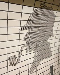 Sherlock tiled - Baker Street Underground, London, UK