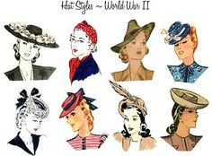 Hat styles - WWII