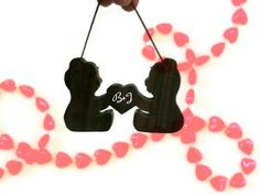Personalized Valentine Ornament   Bears by BillsWoodenPleasures