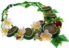Náhrdelník The garden of Eden Handmade Jewelry, Handmade Jewellery, Jewellery Making, Diy Jewelry, Craft Jewelry, Handcrafted Jewelry