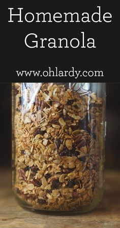 Granola - Our Breakfast Cereal - Oh Lardy!  I made lots of substitutes, but overall good recipe.  Added Coconut sugar, coconut oil instead of evoo.  Hemp seed hearts and flax seeds added too.  Healthy goodness!