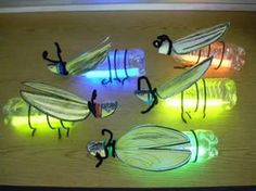 Plastic bottle and glow stick insects. Gloucestershire Resource Centre http://www.grcltd.org/scrapstore/