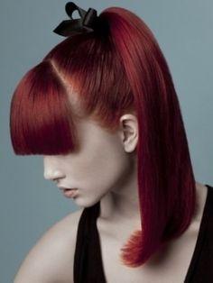 sleek ponytail with fringe for girls