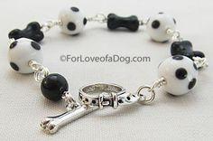 Dalmatian Spots Dog Lover Bracelet at For Love of a Dog