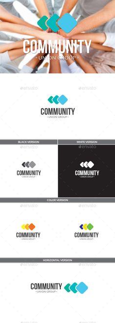 Community Logo Design Template Vector #logotype Download it here: http://graphicriver.net/item/community/11139131?s_rank=1007?ref=nexion
