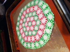 Peppermint candied plate and snack! Super easy to do too! :)