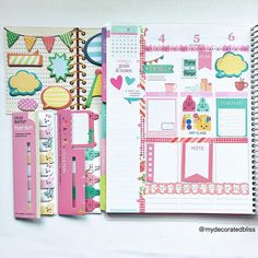 mydecoratedbliss:   using Erin Condren Lifeplanner with  KikkiK .   @paperedlove