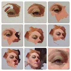 Process Alla Prima demo for my Wednesday night class at Sadie Valeri atelier   http://www.feliciaforte.com/