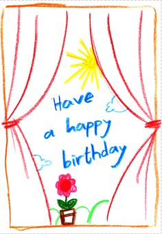 child drawing free birthday card greetings island