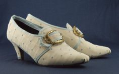 historical sewing tutorial 18th century shoes made from thrift store shoes.