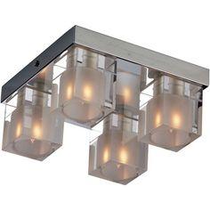 ET2 Lighting Blocs 4-Light Flush Mount