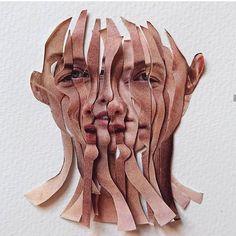Saatchi Gallery, Distortion Art, Face Collage, Collage Artwork, Collages, Gcse Art Sketchbook, Art Alevel, Photocollage, A Level Art