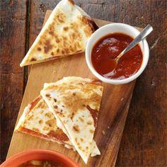 Pizza Quesadillas Recipe from Taste of Home