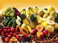 Display of Exotic Fruit with Stone Fruits, Berries and Avocados Photographic Print at AllPosters.com