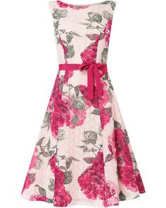 Women's Multi-ColouredCherie Printed Lace Dress