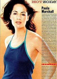 Paula Marshall - from the May 1997 issue of US magazine Paula Marshall, Magazine, Magazines, Warehouse, Newspaper
