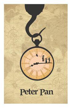 Peter Pan Print moderne 11 x 17 Peter Pan par CaptainsPrintShop