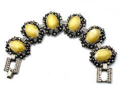 Selro Bracelet Yellow Lucite Flower High by JewelryQuestDesign, $69.99