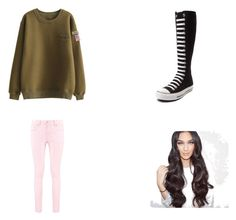 """""""Date night"""" by hendricksl ❤ liked on Polyvore featuring Boohoo and Converse"""