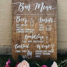Wedding Bar Menu Sign – Rustic Wooden Wedding Alcohol Selection Sign Wedding Signs, Rustic and Chalkboards for Businesses, Events and Home. Custom Handmade Signage for all of your events! Wedding Signage, Wedding Menu, Wedding Reception Decorations, Budget Wedding, Wedding Tips, Wedding Ceremony, Wedding Planning, Wedding Centerpieces, Wedding Drink Signs