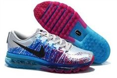 new style 34a68 c82f2 Nike FlyKnit Air Max Femme Homme Argent Bleu Plum Rouge Nike Outlet, Silver  Shoes