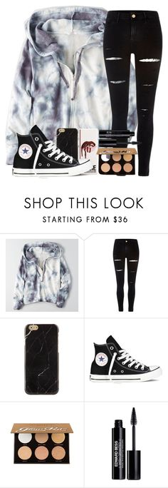 """""""qotd: whats the top thing on your christmas list?"""" by madiweeksss ❤ liked on Polyvore featuring American Eagle Outfitters, River Island, Converse, Anastasia Beverly Hills and Edward Bess"""