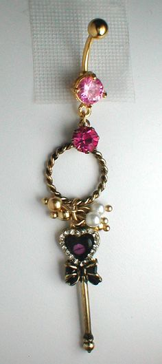 Unique Belly Ring Key from Engagement Series by pondgazer2004 Who says you have to ask with a FINGER ring? Now I need my belly button pierced lol