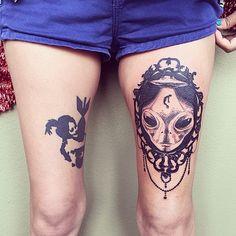 ugly thigh nice tattoo