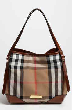 This Burberry 'house check' tote is on the wish list.