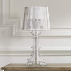 Baroque Clear Acrylic Accent Table Lamp - #97645 | Lamps Plus