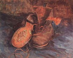 TheHistorialist: 1885 - 1889 | VINCENT VAN GOGH | BOOTS & CLOGS | WITH A LITTLE HELP FROM MAGRITTE |