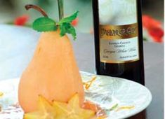 Recipe For Pear Poached in White Wine with Caramel Sauce | Bed and Breakfast Inns | BBOnline.com