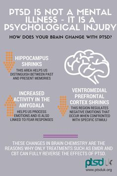 How Your Brain Changes With PTSD | Information | Treatment | Symptoms | Trauma | Injury | Mental Health | Help