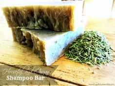 How to Make an Herbal Shampoo Bar Soap :: Horsetail and Argan Oil :: A Recipe for Damaged Hair