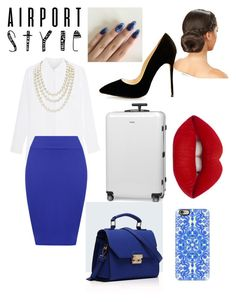 """What's blue and white all over My Outfit"" by stylist104 on Polyvore featuring WearAll, Chanel, Rimowa, Relaxfeel, Lime Crime, Casetify, GetTheLook and airportstyle"