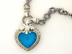 AC Turquoise Heart Shaped Pendant Necklace