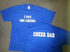 Cheer Dad Shirt by ThingsToCheerAbout on Etsy, $12.00