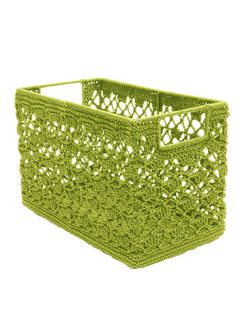 Mode Crochet Knit Baskets by Heritage Lace. Great for holding plants, snacks, silverware, toys and more! Stitch Crochet, Mode Crochet, Crochet Lace, Crochet Home Decor, Crochet Crafts, Crochet Projects, Crochet Bowl, Crochet Storage, Knit Basket