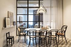 Dining room Thonet chairs