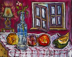 One Rose in a Bottle Oil on Canvas 20 x 16 2012