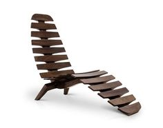The Sternum Chaise in burnished walnut: Chairs, Maryland, Burnished Walnut, Furniture, Design, Brooklyn