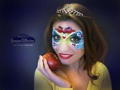 SNOW WHITE-BIANCANEVE Face Painting by Silvia Vitali