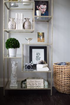 How to style a bookcase 3 ways on Glitter & Gingham ft. World Market Bookcase