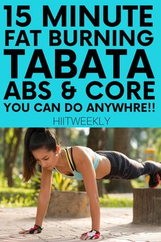 Sculpt tight abs while trimming belly fat with this Tabata workout for your abs and core muslces that promises fast results. Get the workout here. 15 Minute Ab Workout, Best Ab Workout, Tummy Workout, Abs Workout For Women, Workout For Beginners, Boxing Workout, Fat Workout, Insanity Workout, Tabata Workouts At Home